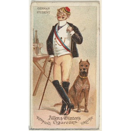 German Student from Worlds Dudes series (N31) for Allen & Ginter Cigarettes Poster Print (18 x
