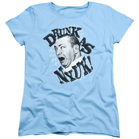 Three Stooges Slapstick Famous Comedy Group Drunk Women's T-Shirt Tee
