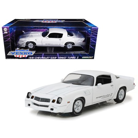 1981 Chevrolet Camaro Z/28 Yenko Turbo Z White 1/18 Diecast Model Car by Greenlight