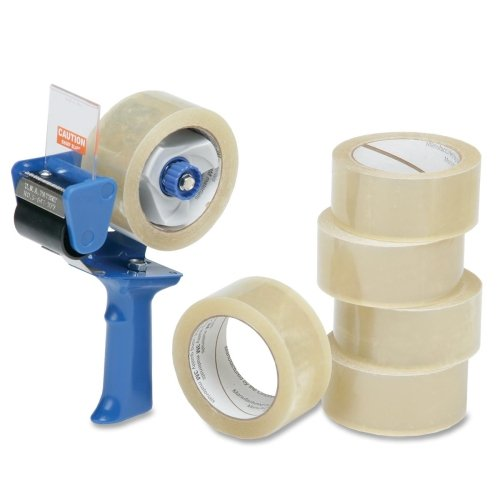 "Skilcraft Package Sealing Tape,w/Dispenser,3.1 mil,2""x55 yards,6/PK,CL NSN5796872"