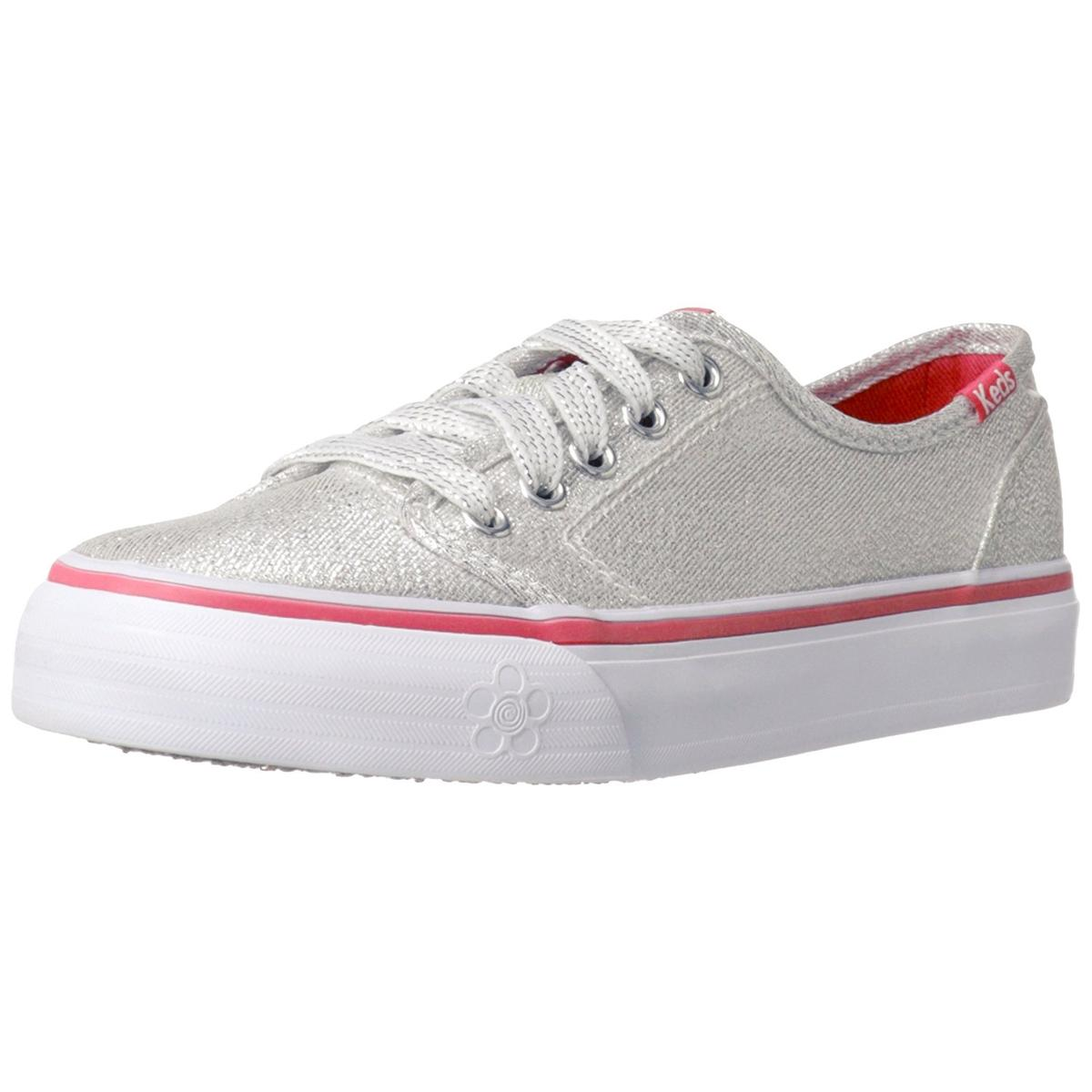 Keds Double Dutch Girls Silver Pink Sneakers by Keds