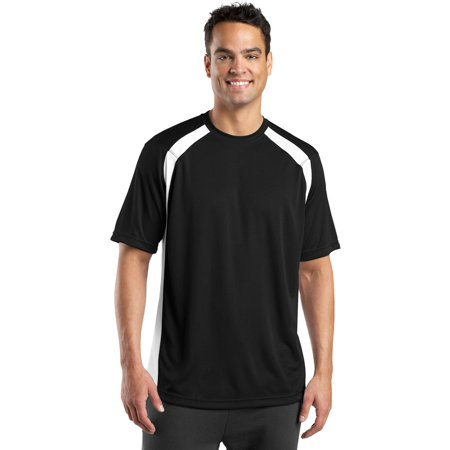 Sport-Tek Men's Athletic Fit Colorblock T-Shirt Big And Tall Relaxed Fit T-shirt