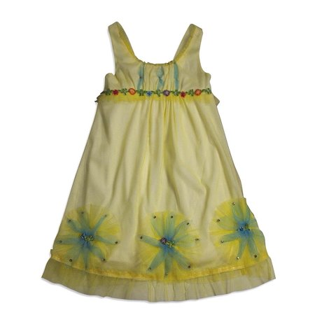 Sara Girls Clothing (Baby Sara Toddler & Girls Sleeveless Dresses- Assorted Fabrics / Styles / Colors, 24671 yellow /)