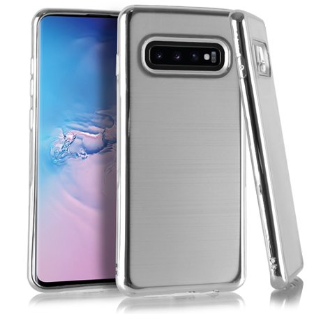 Samsung Galaxy S10 Crystal Brushed Chrome Silver