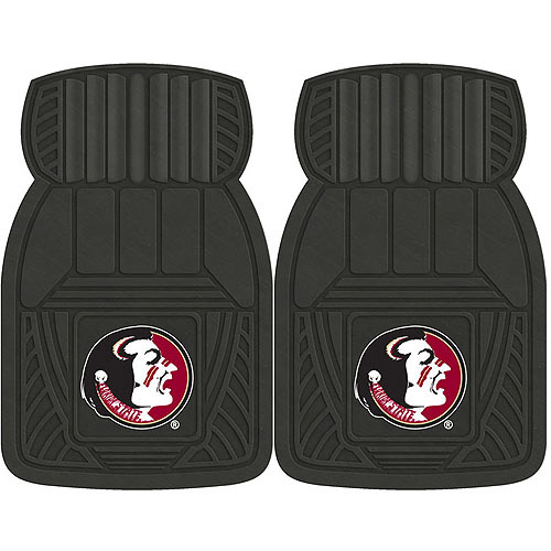 NCAA 2-Piece Heavy-Duty Vinyl Car Mat Set, Florida State University