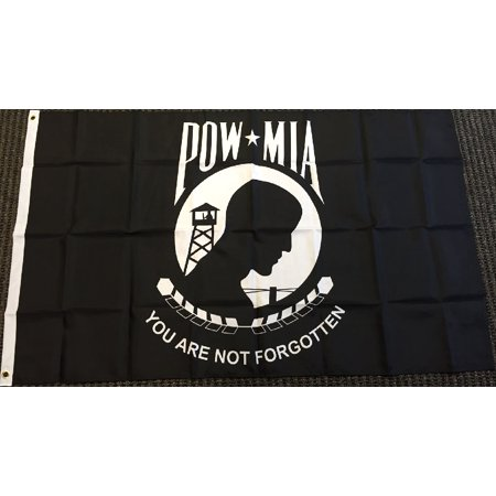 POW-MIA Flag POW MIA Banner Military Veteran Pennant New Indoor Outdoor 2x3 Foot - Outdoor Pennant Banner