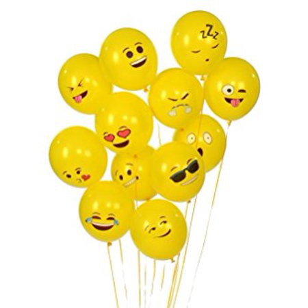 Emoji Universe Series One: Latex Emoji Smiley Face Balloons 72 Pack Yellow (Smiley Face Decorations)