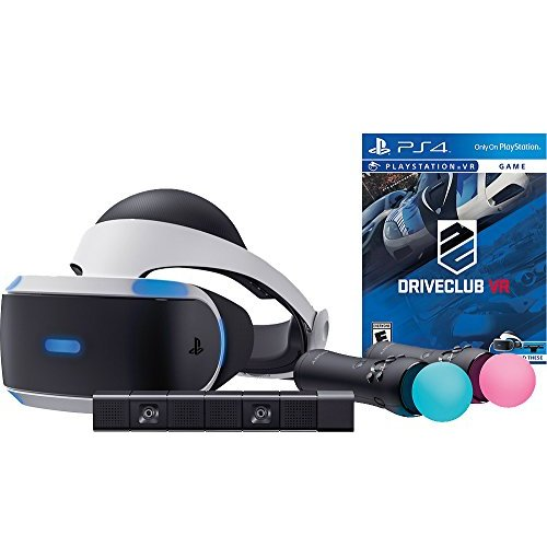 Refurbished Sony PlayStation VR Driveclub Starter Bundle 4 Items: VR Motion Camera VR Demo Game Disc