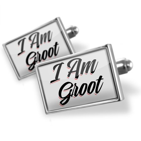 Cufflinks Vintage Lettering I Am Groot - NEONBLOND