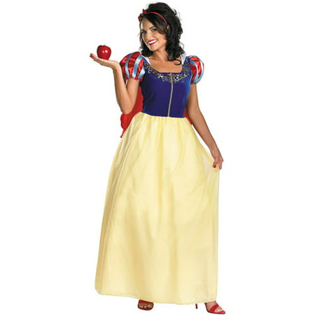 Snow White Deluxe Adult Plus Halloween Costume - Halloween Snow Globe Song