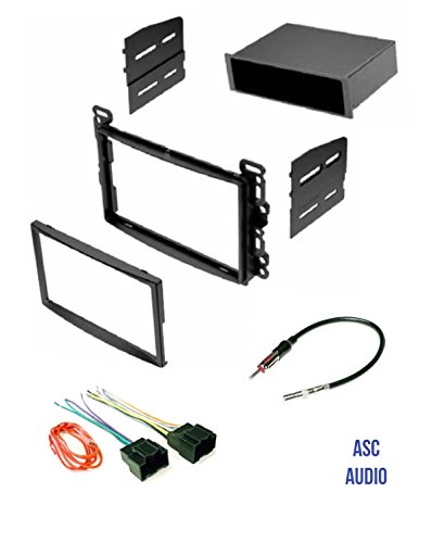 asc audio car stereo dash kit, wire harness, and antenna adapter for some chevrolet 07 10 cobalt, 06 11 hhr, 08 12 malibu pontiac 07 10 g5, 06 09 2008 cobalt lt stereo install (with