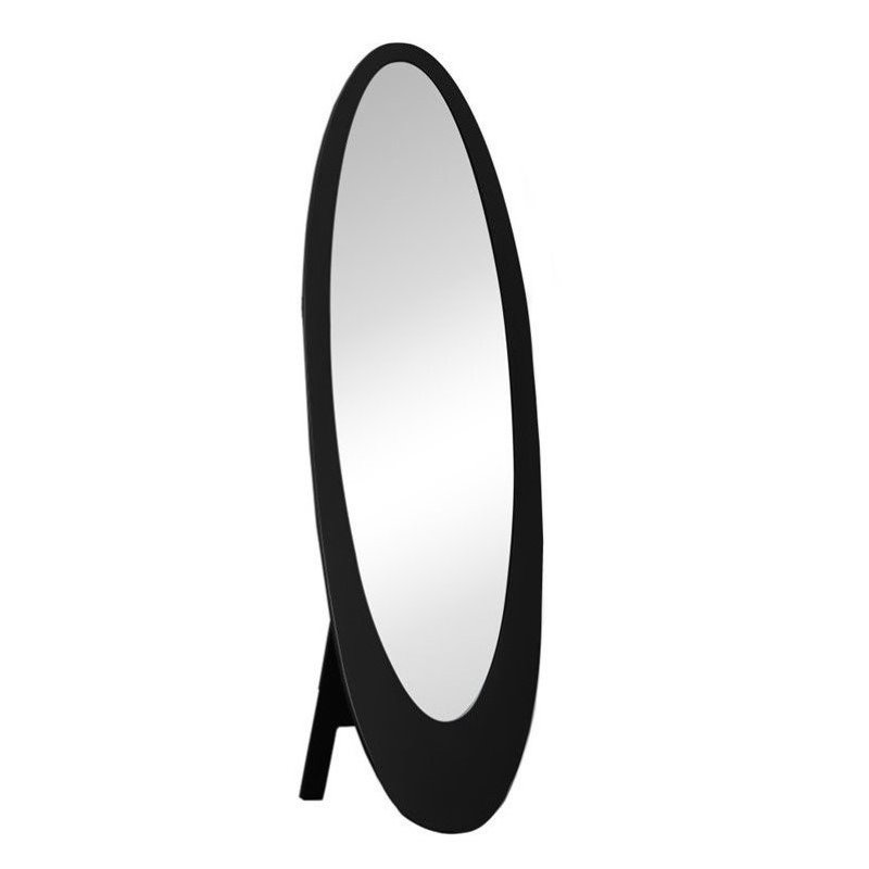 Bowery Hill Oval Cheval Mirror in Black by Bowery Hill