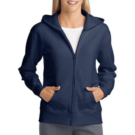 Women's Fleece Zip Hood Jacket Cotton Blend Fleece Jacket