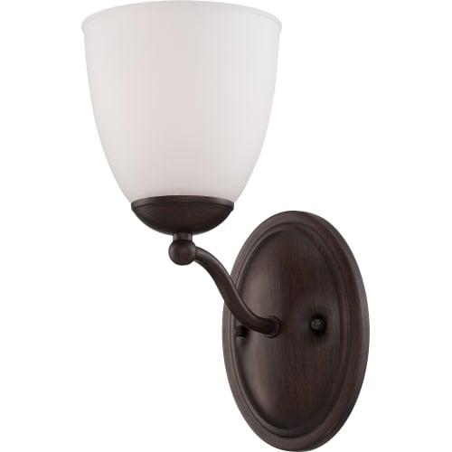 Nuvo Lighting  60/5151  Bathroom Fixtures  Patton ES  Indoor Lighting  Bathroom Sconce  ;Prairie Bronze