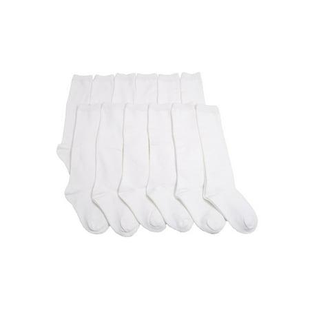 ed9083f44 Angelina Girls  Cotton Classic Uniform Knee-High Basic School Socks  (12-Pairs