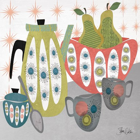 Mid Century Coffee Break Poster Print by Shanni Welsh