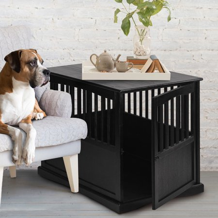 Wooden Pet Crate End Table in Espresso. Wooden Pet Crate End Table in Espresso   Walmart com
