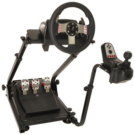 Conquer Racing Simulator Cockpit Driving Gaming Wheel Stand and Gear Shifter Mount (F1 Steering Wheel Ps3)