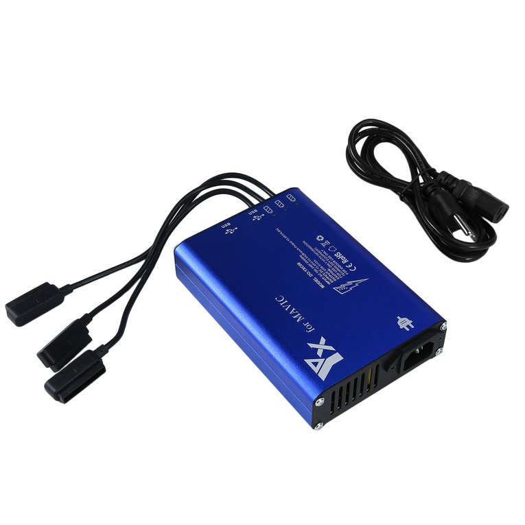 5 In 1 Battery c harger Fast c harging Hub Rapid Battery c harger For Mavic Pro Blue Blue