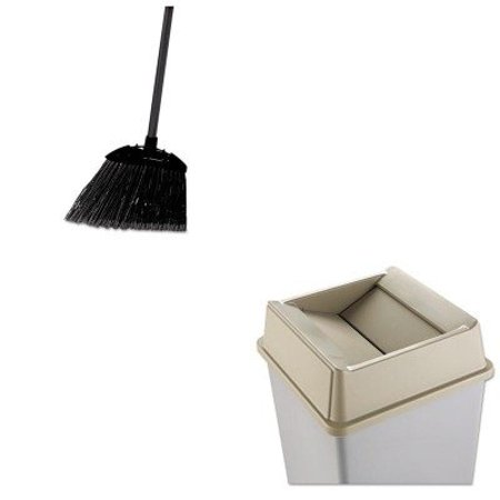 4ba69950104a KITRCP2664BEIRCP637400BLA - Value Kit - Rubbermaid-Beige Square Top  (RCP2664BEI) and Rubbermaid-Black Brute Angled Lobby Broom (RCP637400BLA) -  Walmart.com