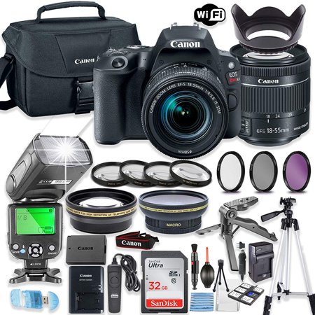 Canon Eos 1d Flash Memory - Canon EOS Rebel SL2 DSLR Camera Bundle with Canon EF-S 18-55mm STM Lens + 32GB Sandisk Memory + Canon Case + TTL Flash + Accessory Bundle