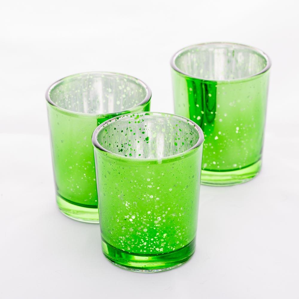 Richland Votive Holder Mercury Green Set of 12