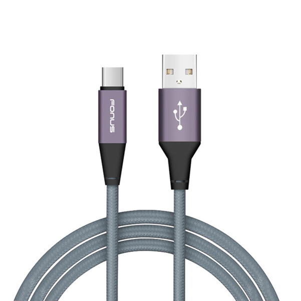 AT&T Samsung Galaxy S9+ Premium 10ft Long Gray Braided Type-C Cable Rapid Charger Sync USB Wire Z9Y