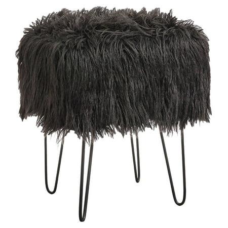 Target Marketing Systems Miranda Square Faux Fur Vanity Stool ()