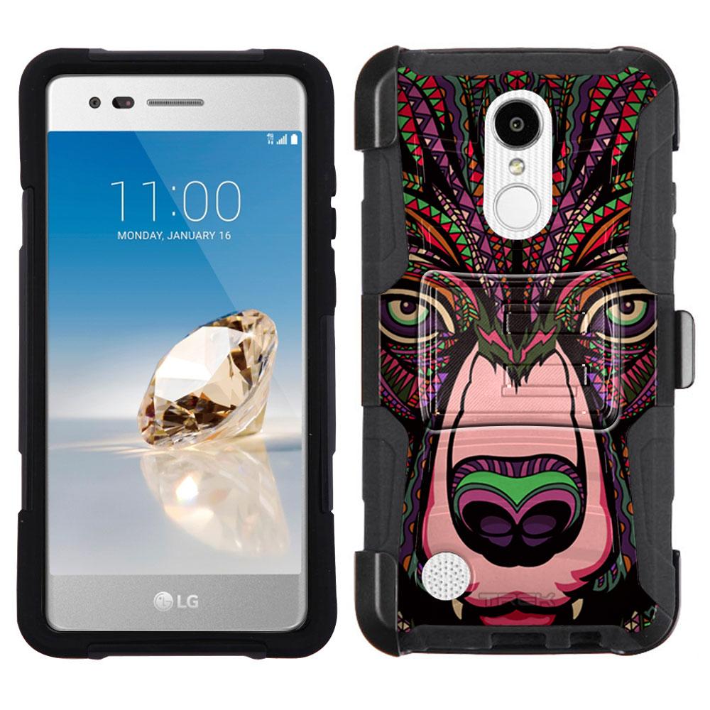 LG Phoenix 3 Armor Hybrid Case - Aztec Bear Head
