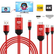 EEEkit USB Type C to HDMI Converter Adapter Cable 4K@30Hz For Samsung Galaxy S9 S8 Note 8,MacBook,Plug-Play