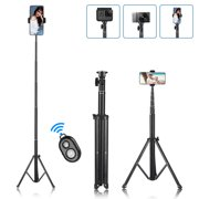 """Selfie Stick Tripod, 61"""" Extendable Tripod Stand, Phone Tripod Camera Tripod with Wireless Remote Shutter Compatible with iPhone 12 Pro Max 11 Xs Xr, Android, Vlogging/Streaming/Photography/Recording"""