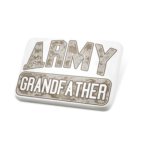 Porcelein Pin ARMY Grandfather, Camo Lapel Badge – NEONBLOND