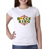 Bocce King - 60's Vintage Retro Bocce Ball Girl's Cotton Youth T-Shirt