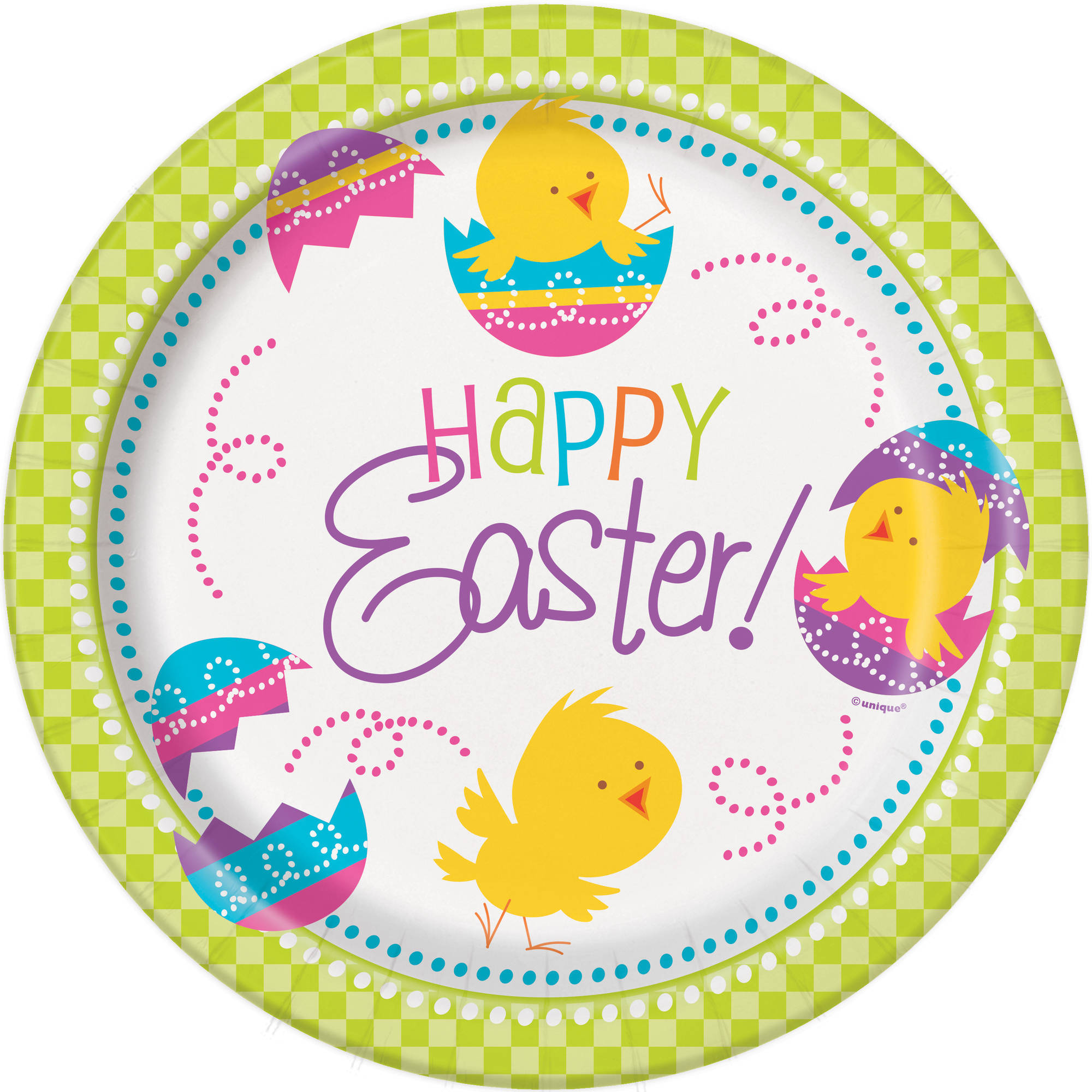 """9"""" Spring Chick Easter Party Plates, 8ct"""