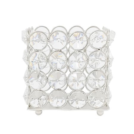 Crystal Square Transparent White Glass Tealight Votive Candle Holder Single Piece Table Decoration Gift by (Glass Transparent Square)