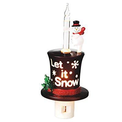 Midwest-CBK let it snow text snowman night light
