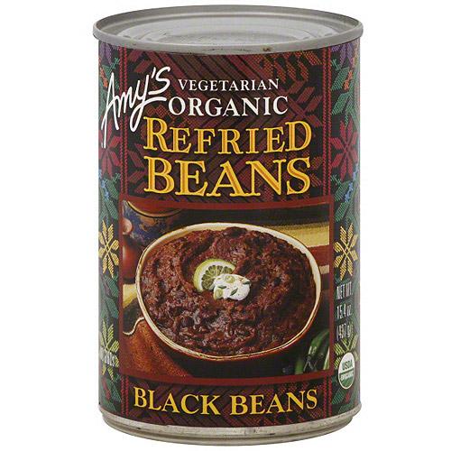 Amy's Organic Vegetarian Refried Black Beans, 15.4 oz (Pack of 12)