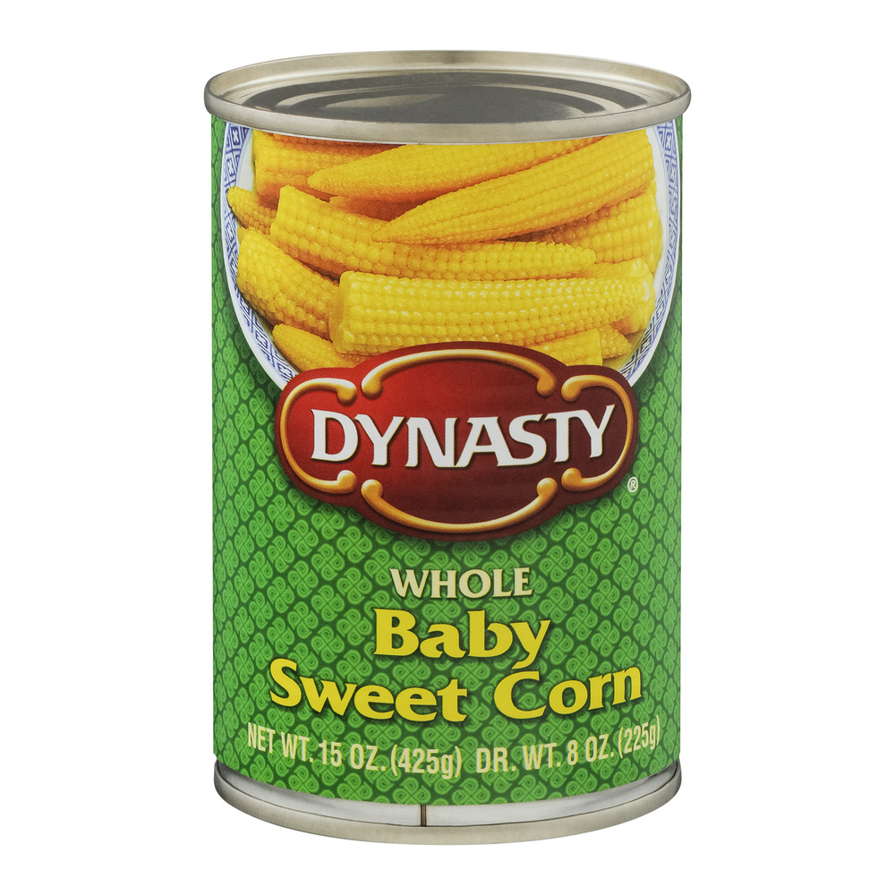 Dynasty Whole Baby Sweet Corn, 15 oz