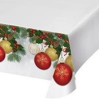 """Creative Converting Ornament Elegance Plastic Tablecloth, 54"""" X 102"""""""
