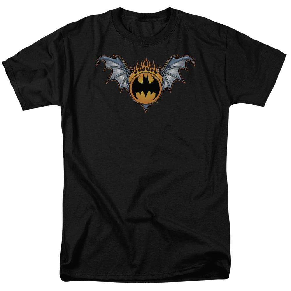 Batman Men's Bat Wings Logo T-shirt Black by Trevco