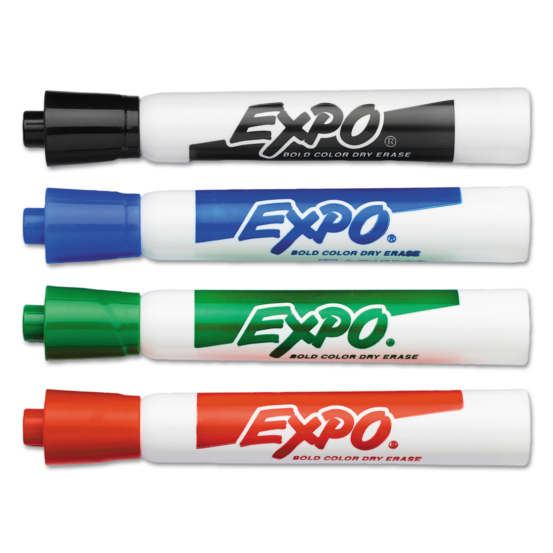 EXPO Dry Erase Markers, Bullet Tip, Assorted, 4/Set