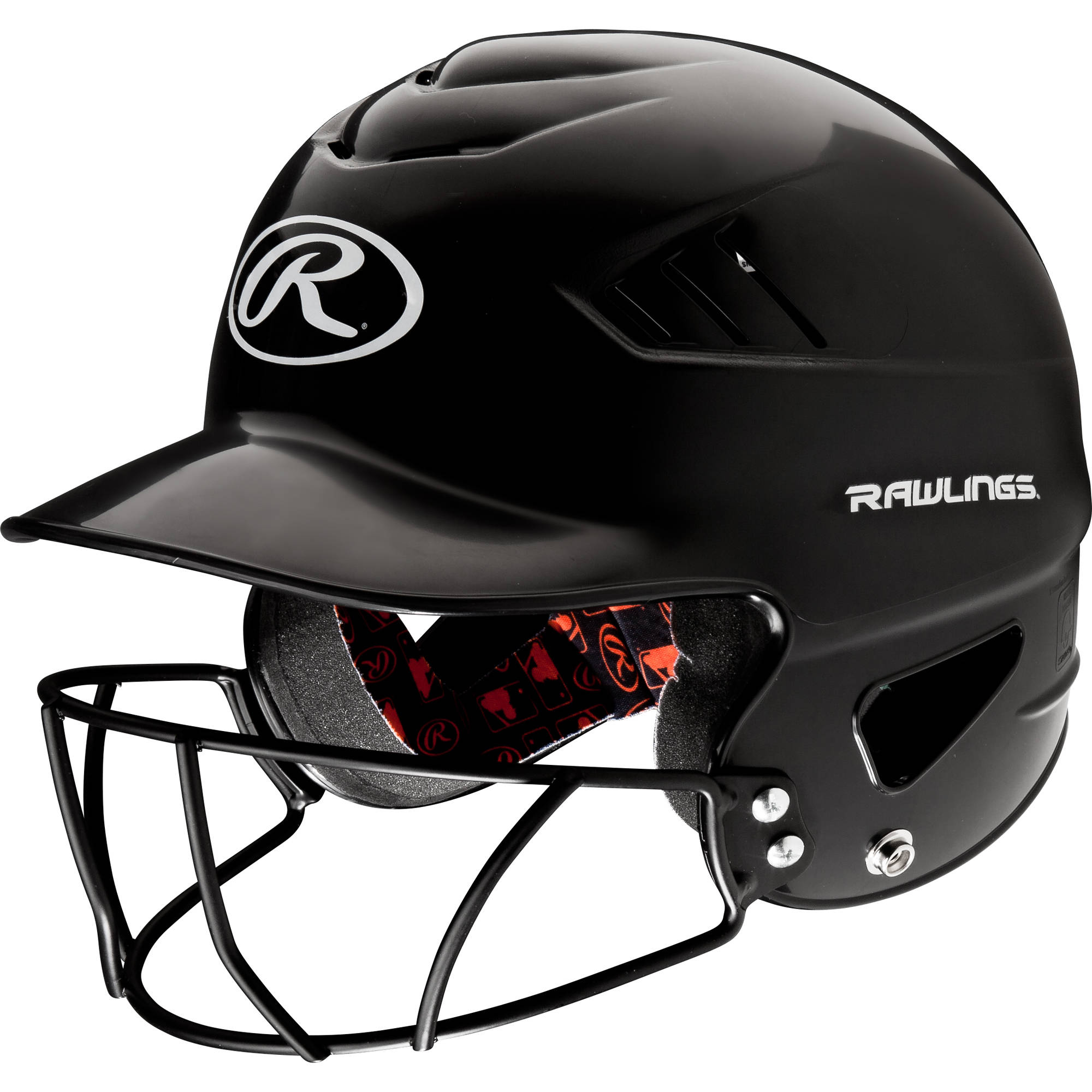 Rawlings Coolflo Helmet with Mask, Black