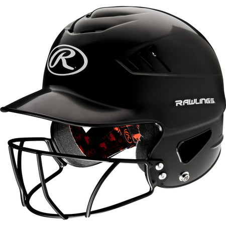 Rawlings Coolflo Batting Helmet with Face Mask, Black