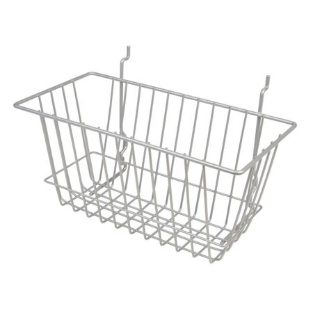 Econoco BSK17-EC 12 x 6 x 6 in  Narrow Basket Epoxy Chrome
