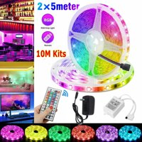 Waterproof 16.4/32.8ft/49.2ft LED Strip Lights 3528 RGB LED Light Remote Controls Light Christmas Lights Party Supplies
