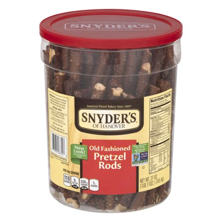 ((2 Pack) Snyder's of Hanover Pretzels, Old Fashioned Rods Canister, 27 Oz)