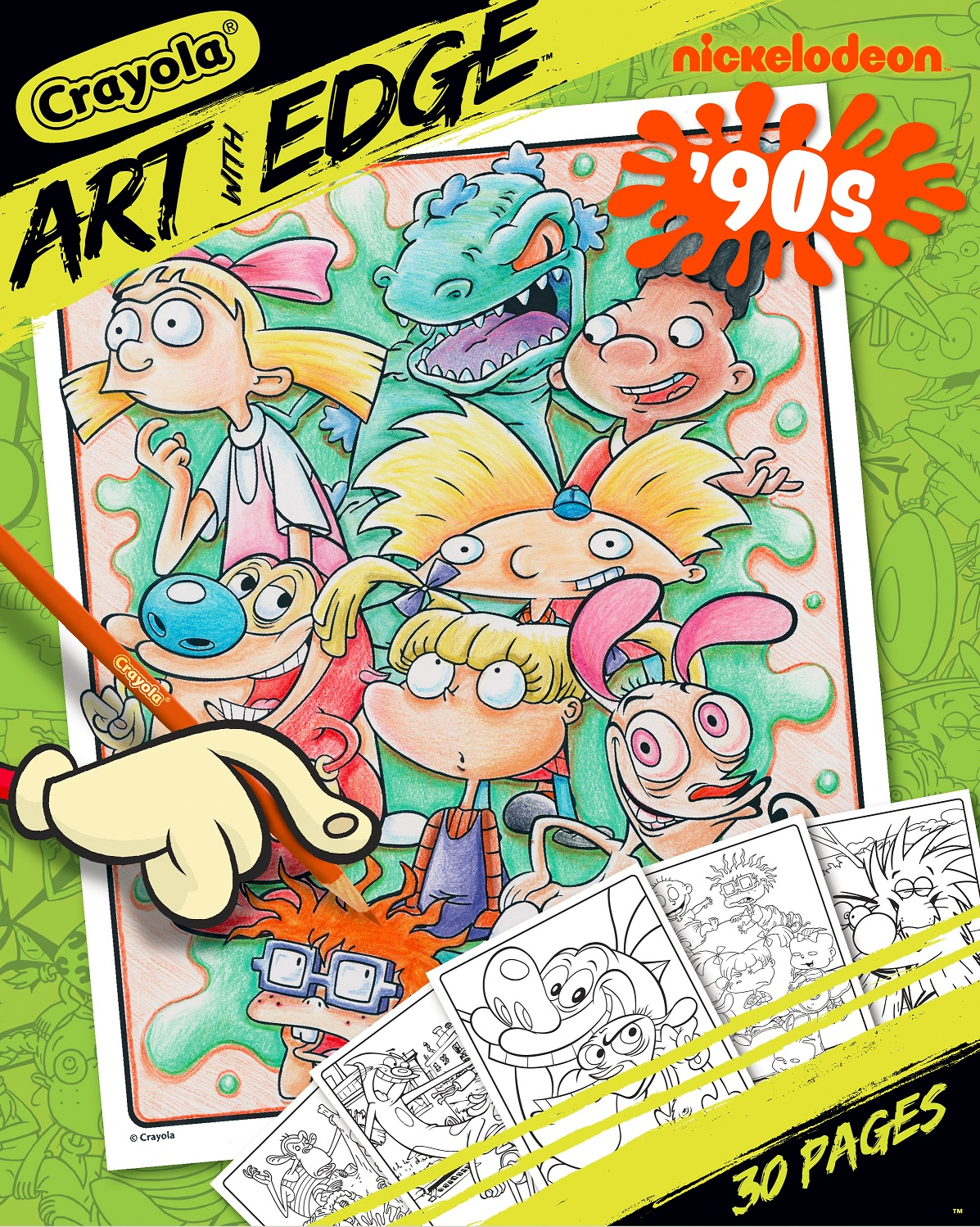 Crayola Art with Edge Nickelodeon '90s Premium Coloring Pages by Crayola