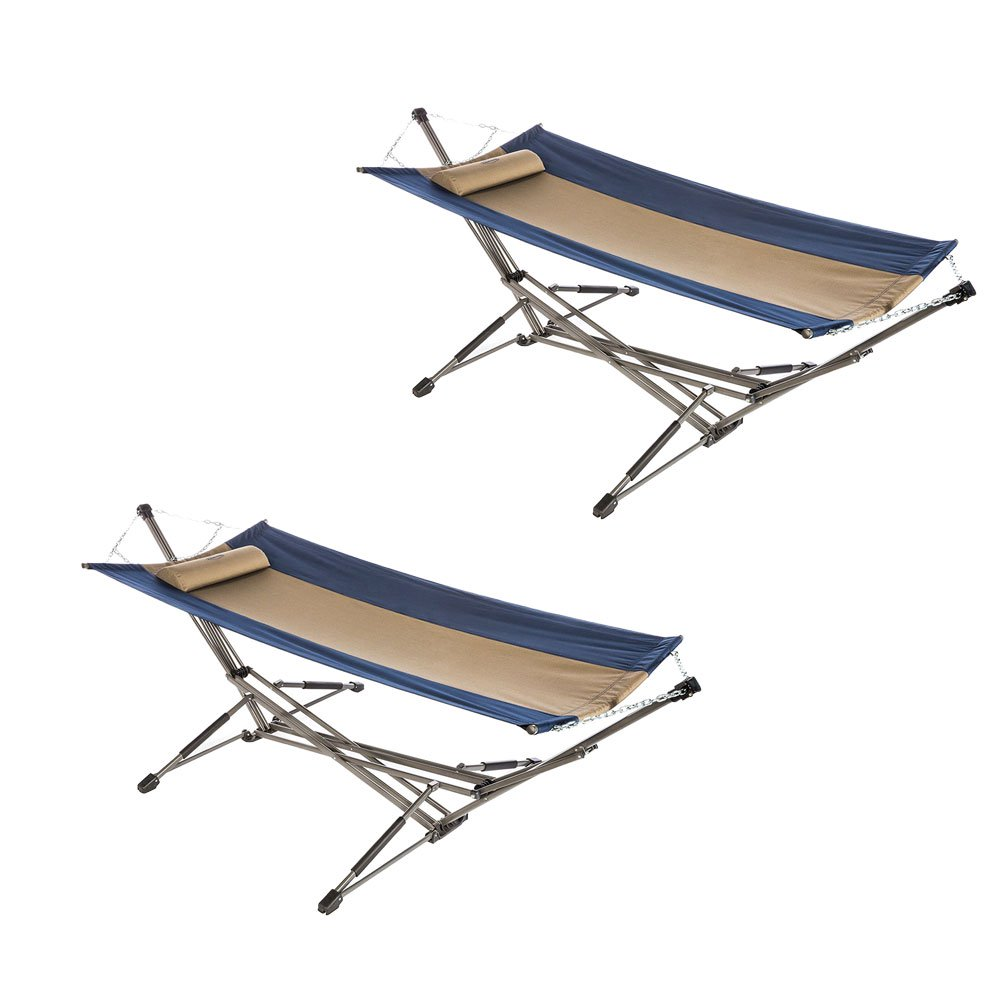 Kamp Rite Indoor Outdoor Camping Portable Collapsible Hammock w/ Stand (2 Pack)