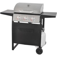 RevoAce 3-Burner Space Saver Gas Grill, Stainless and Black, GBC1706W