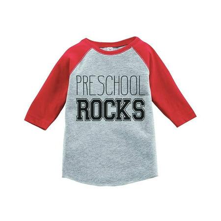 Custom Party Shop Kids Preschool Rocks School Raglan Tee - (Custom Made Children's Clothing)